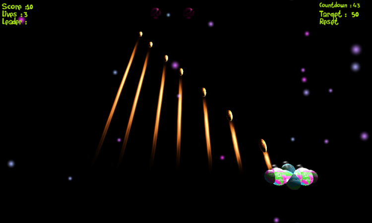 Screenshot from our Jumping Saucers Game